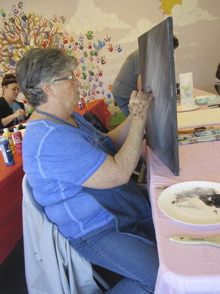 Nancy's Paint Palette a hit at Q.B. Boydstun Library