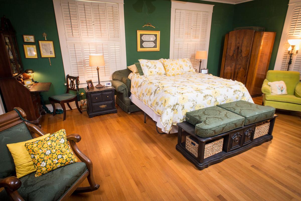Former living room becomes bedroom
