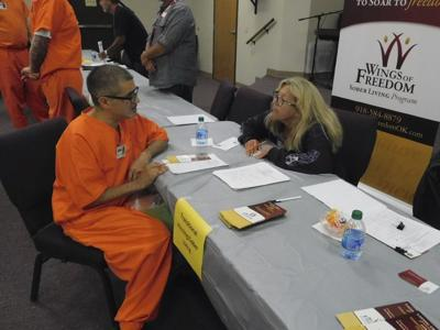 Inmates receive resources at transition fair