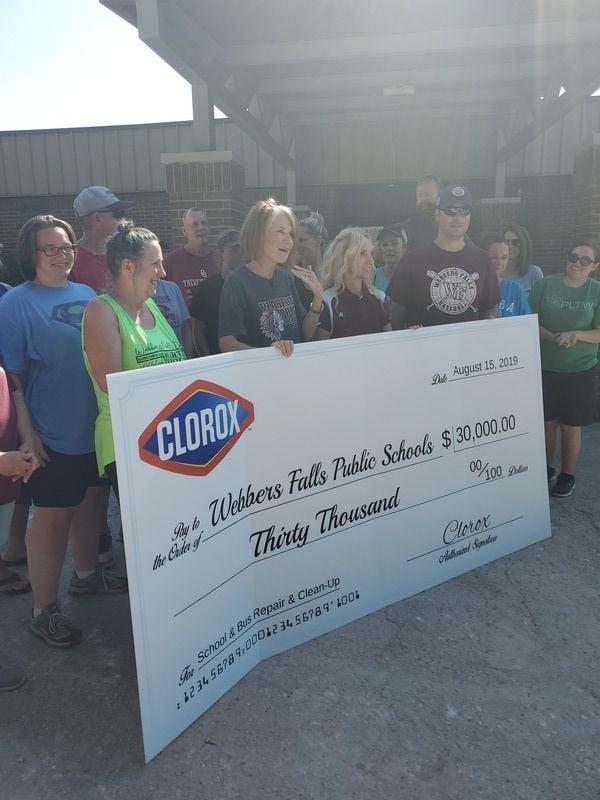 Clorox donates $30,000 to Webbers Falls Schools