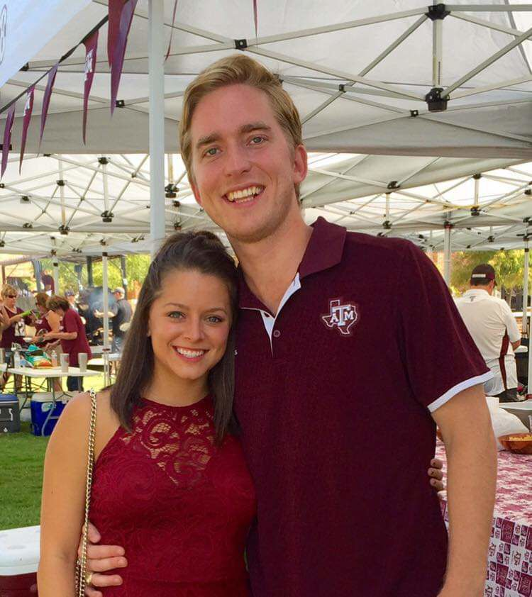 Nick and Dominique Bourgeois at Aggie Tailgate