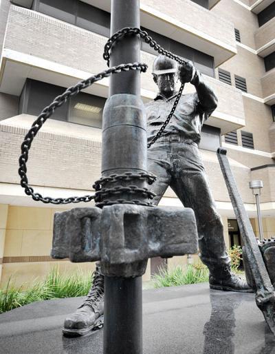 Roughneck statue