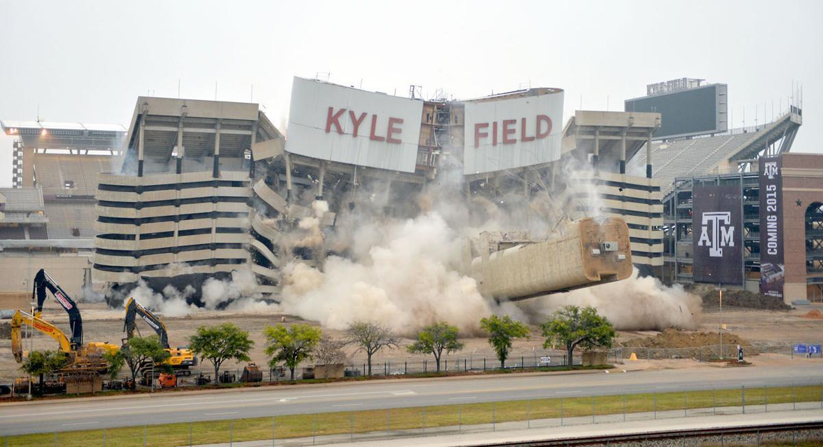 Kyle Field west side implosion