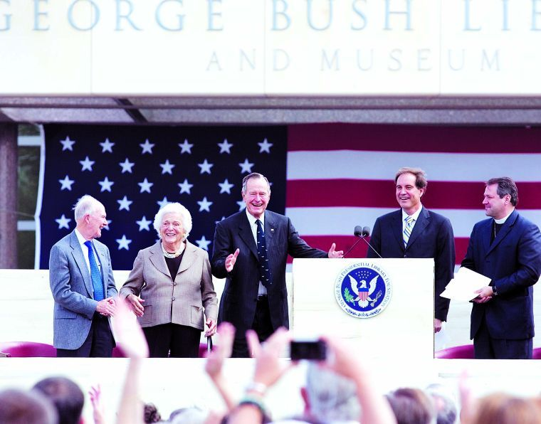 George Bush Library opening