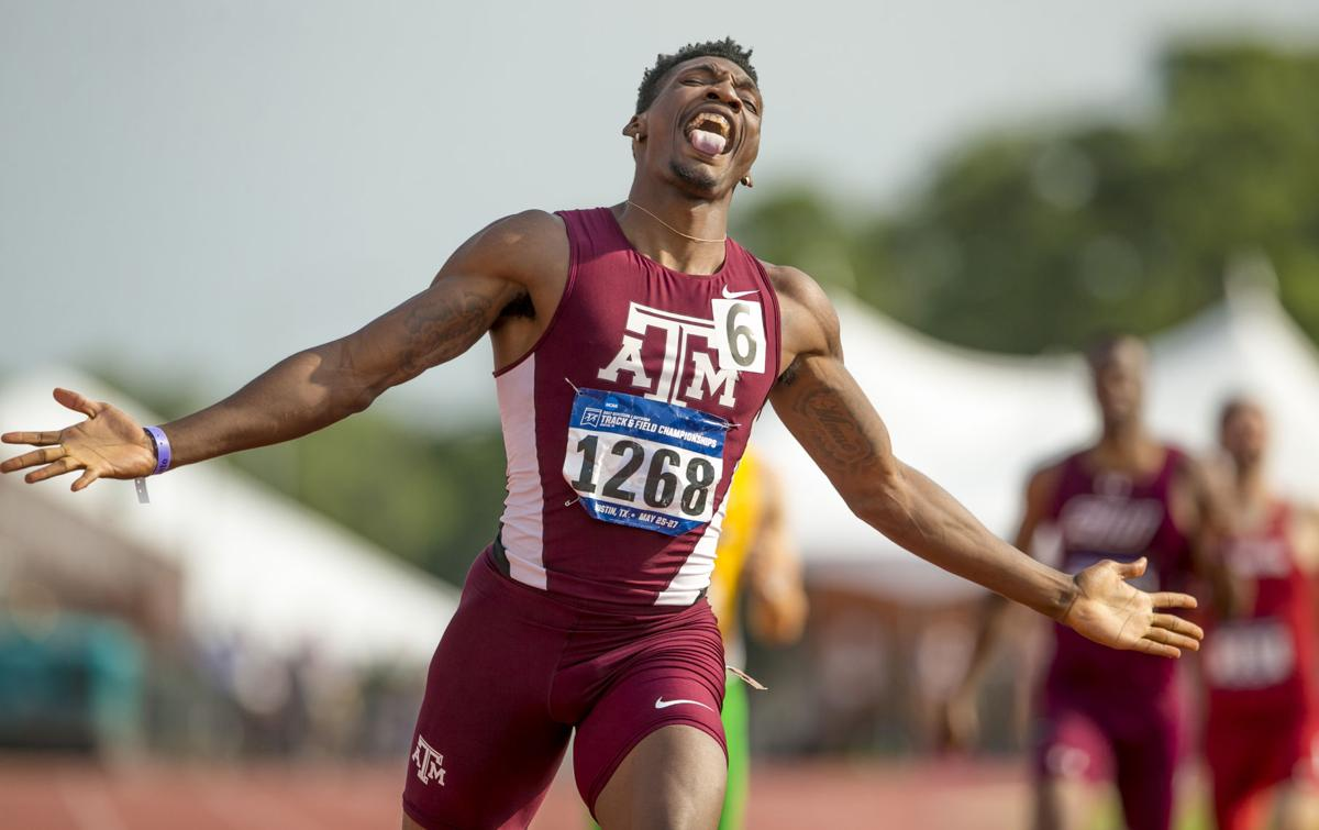 Fred Kerley breaks college record in men's 400 meters
