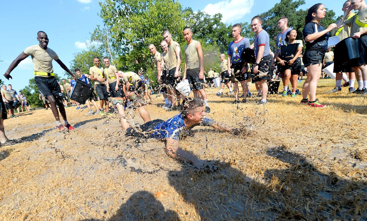 Corps of Cadets blow off steam at annual water fight