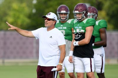Aggie football practice