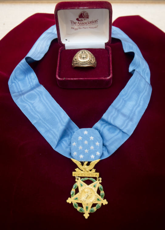 Turney Leonard medal and ring