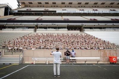 Aggie Band marches on Kyle Field