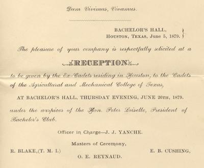 Ex-Cadets reception invitation