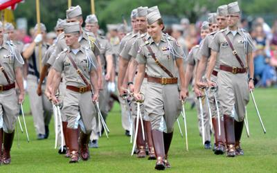 First female commander, Reveille IX assume duty at Corps of Cadets' Final Review