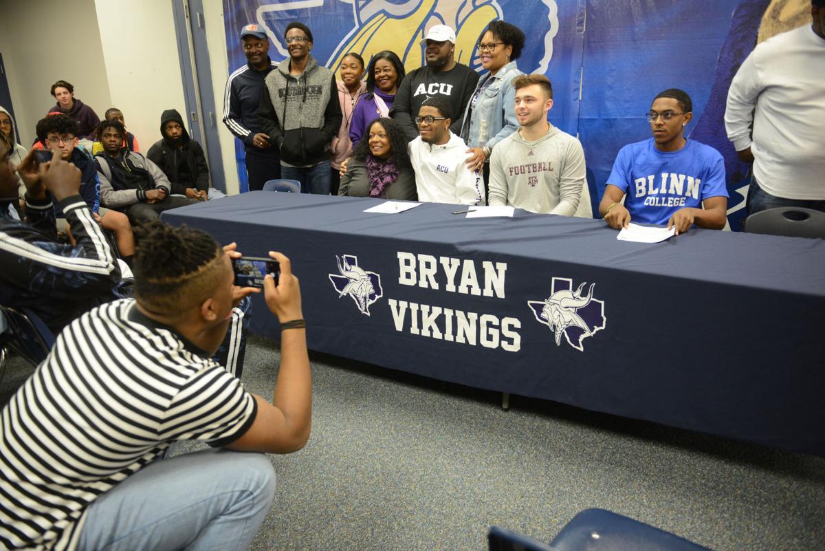 Bryan football signing day