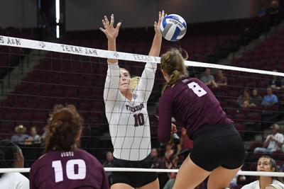 Texas A&M vs. Texas State volleyball (copy)