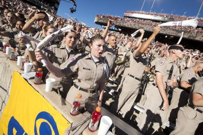 Hard work pays off for Corps of Cadets on gameday