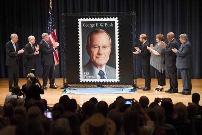 Bush stamp dedication ceremony
