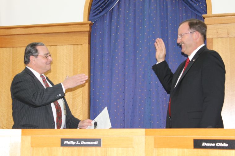 James Moran sworn in as county commissioner