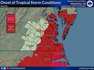 Dorchester under tropical storm warning