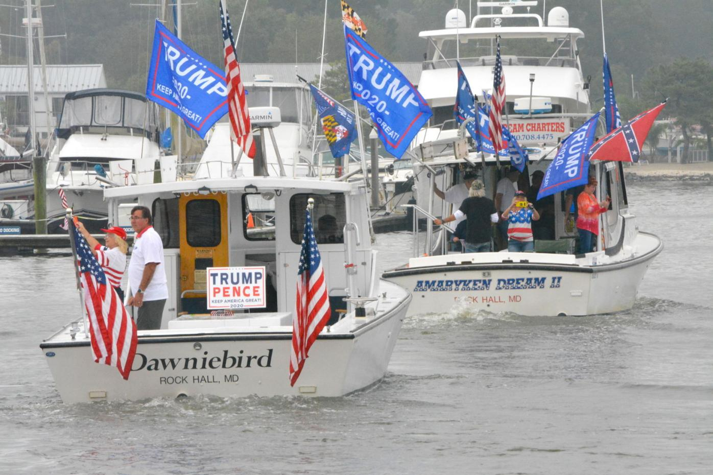 Rock Hall boaters show support for Trump