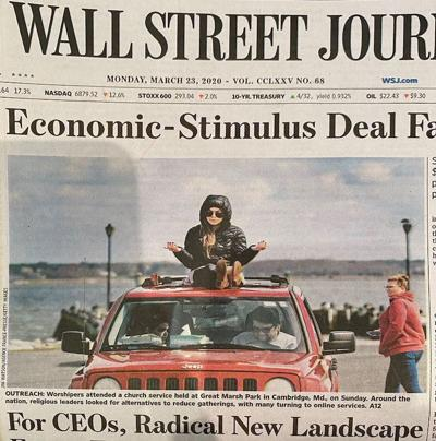 Wall Street Journal front page features drive in church