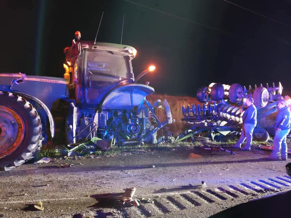 Farm tractor struck by tractor trailer on US 301   Police