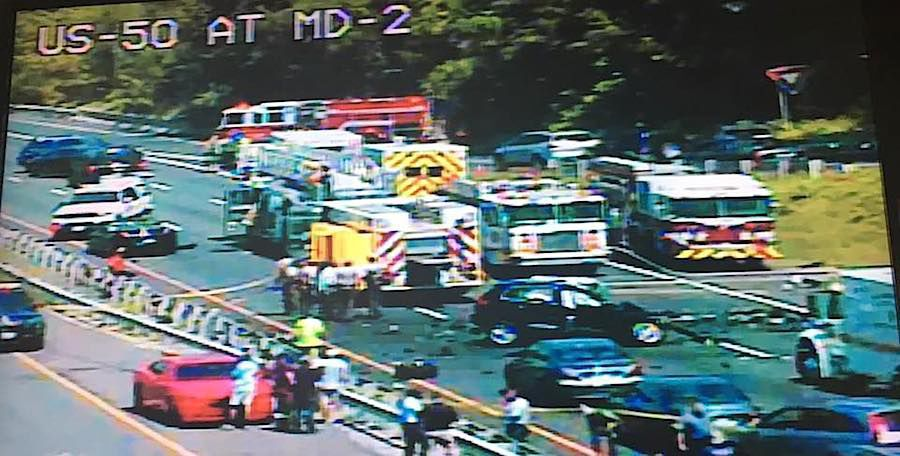 Two dead in wrong-way crash on Route 50 | Spotlight