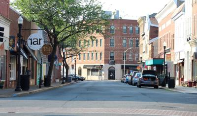 Poplar Street in downtown Cambridge