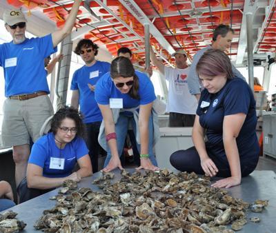 Northrop Grumman working with CBF to monitor oyster reefs