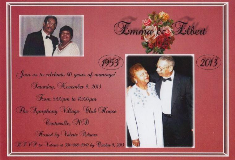 Elbert and Emma Hicks 60th Wedding Anniversary