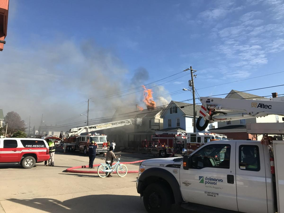 Sunday morning fire on Race Street