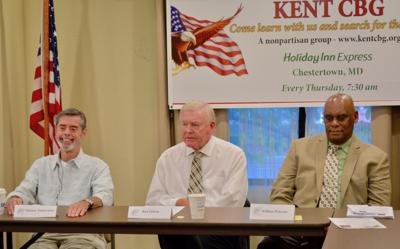 Democratic candidates for commissioner speak to breakfast group