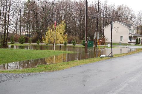 Heavy rain leaves lots of standing water