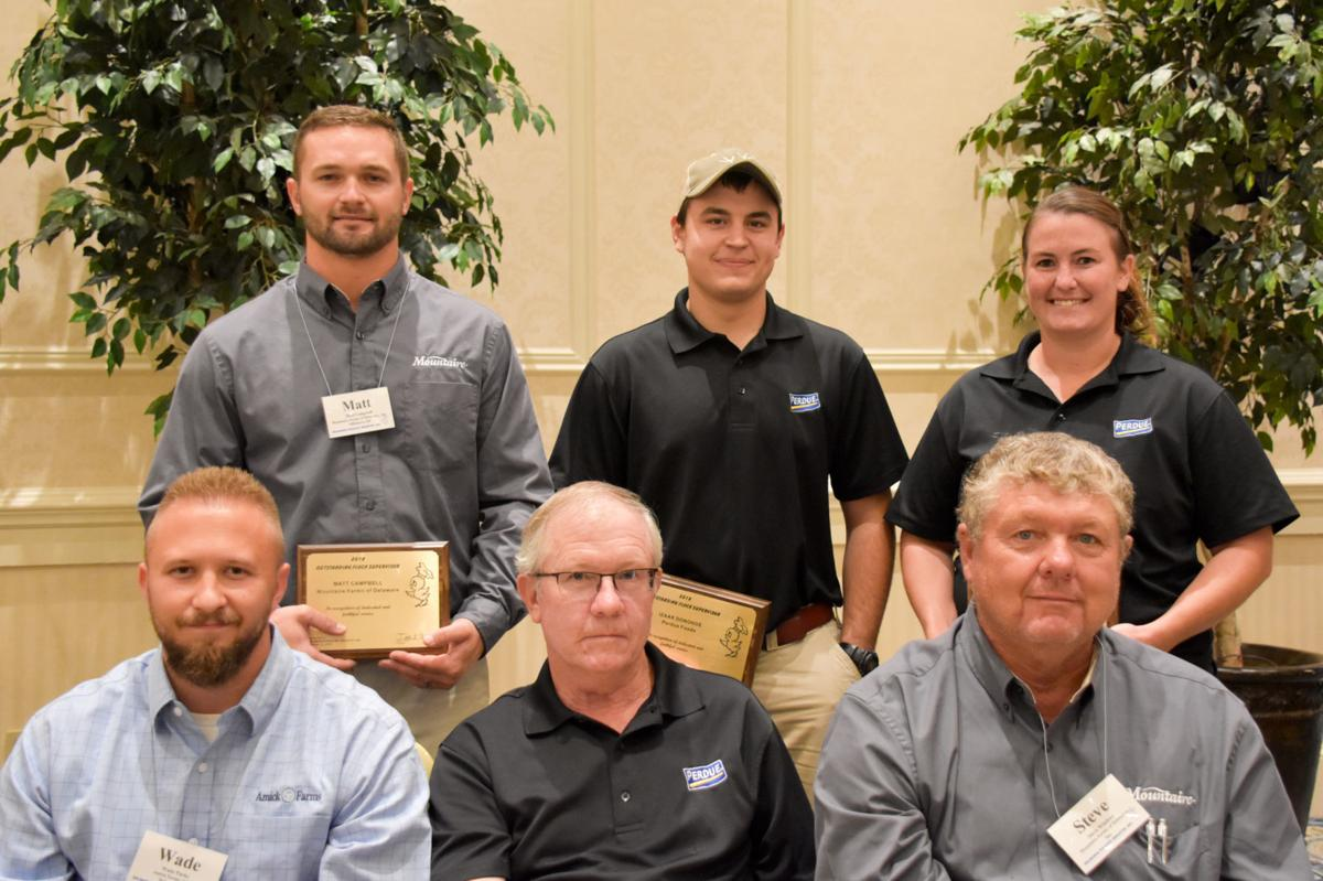 Eight Delmarva flock supervisors honored for work with farmers