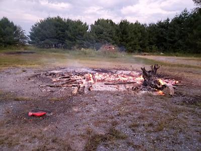 Two people injured while burning brush