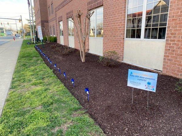 Pinwheel Garden at the Dorchester County Department of Social Services