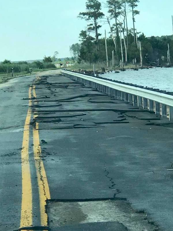 Isaias Damage Ragged Point Road
