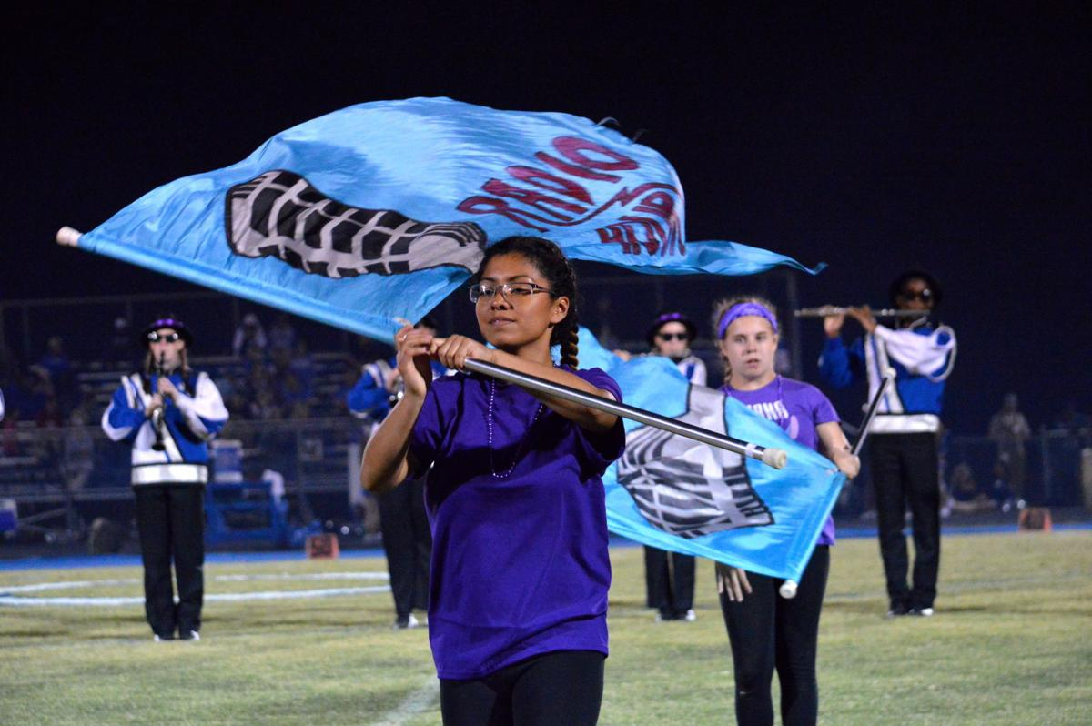 North Caroline Band of Blue performs at halftime