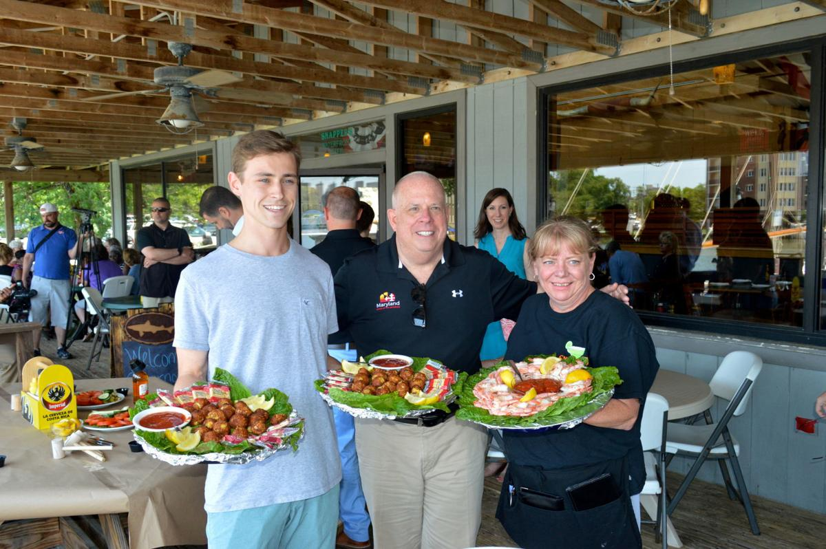 Gov. Larry Hogan honors Snappers Waterfront Cafe