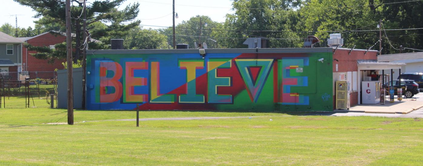 """Believe"" mural"