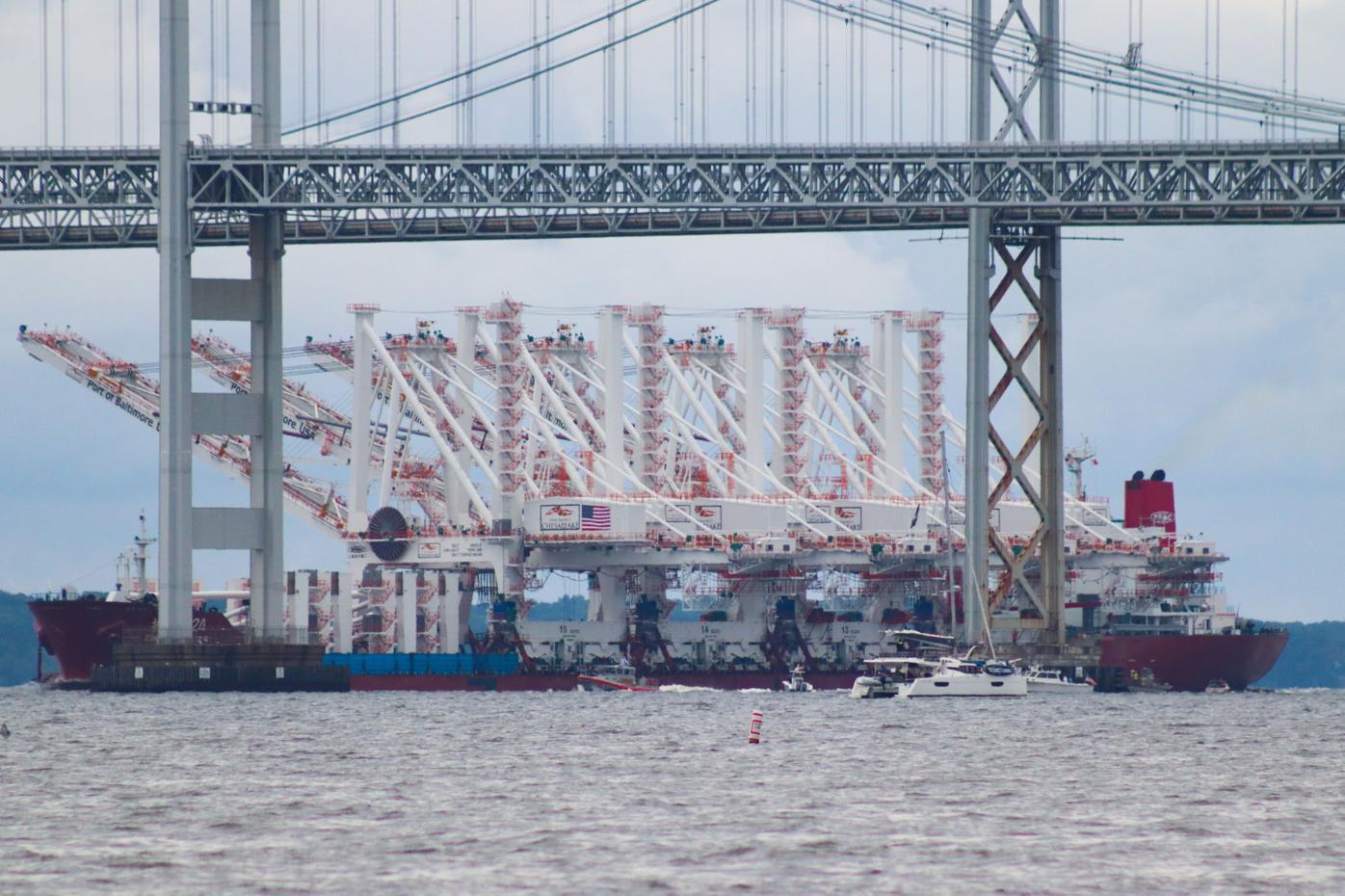 Bridge traffic halted as crane shipment arrives at port after long journey