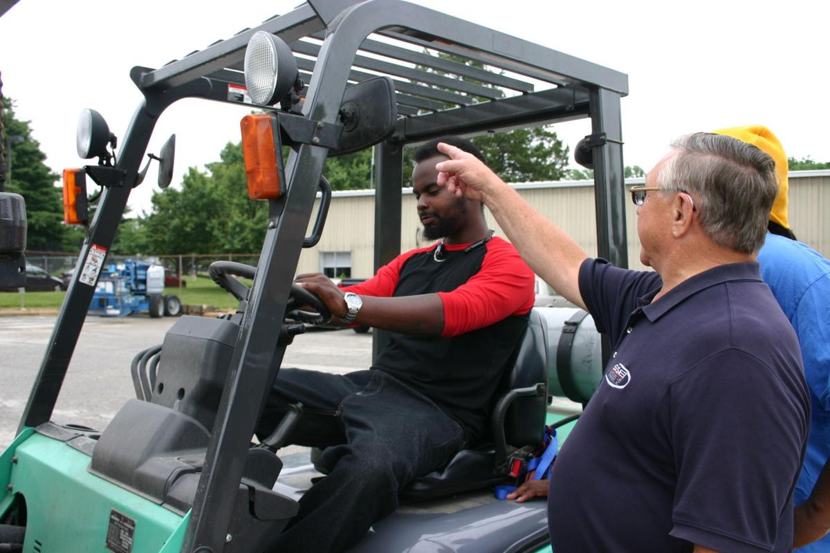 Rise program helps non custodial parents find jobs spotlight chesapeake college instructor roy blades provides fork lift training to a rise program participant xflitez Image collections
