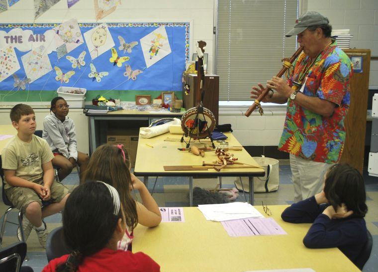Tom McHugh in the classroom