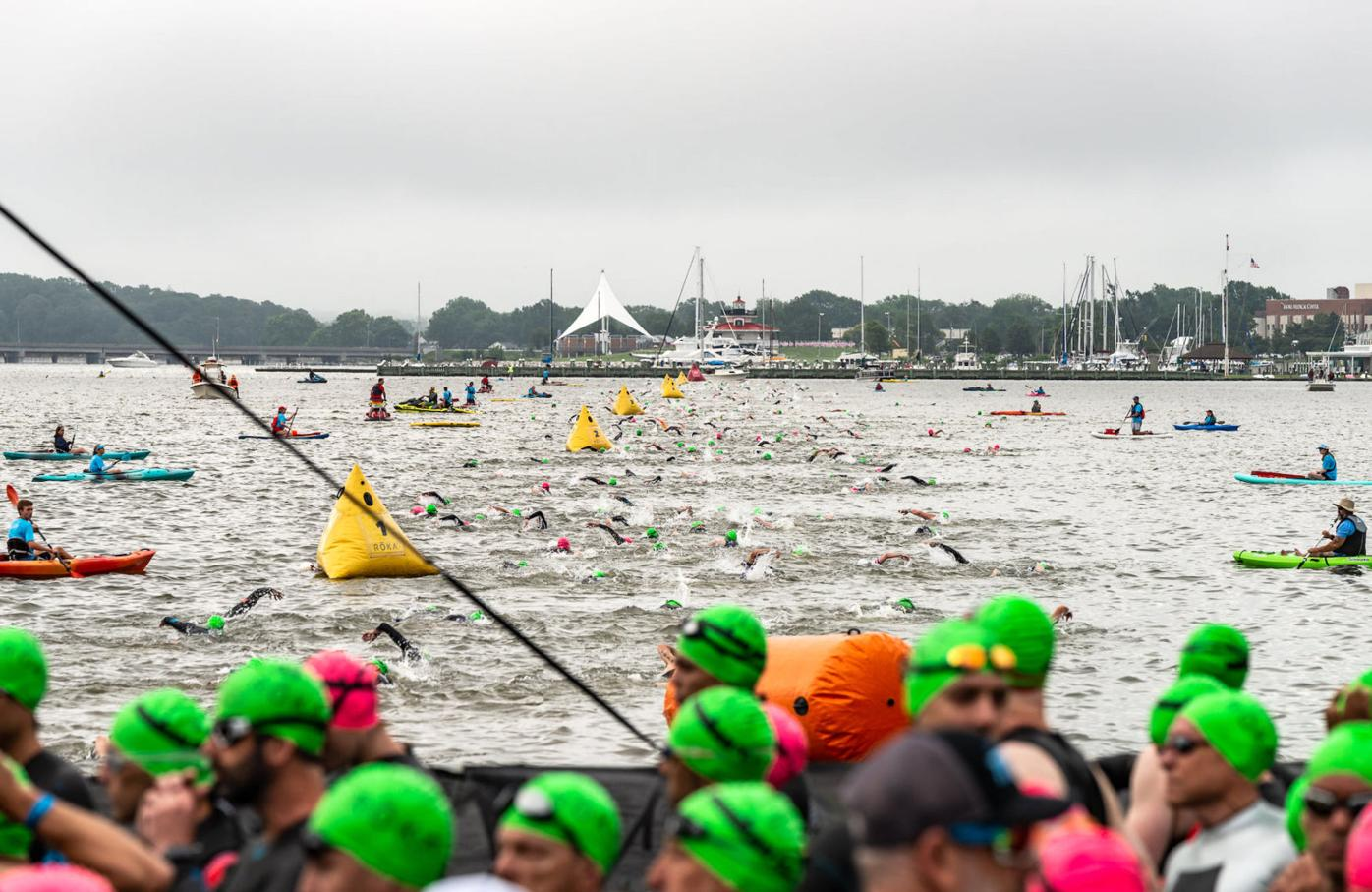 2021 Eagleman race swimmers