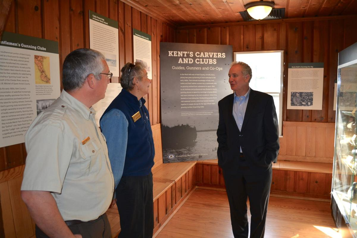 Van Hollen tours Eastern Neck, Chestertown Marina