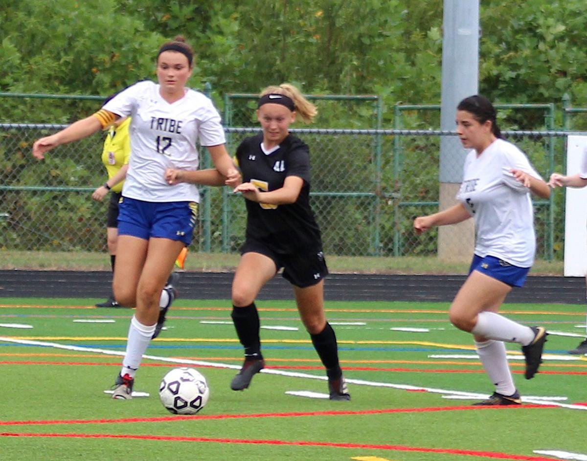 QACHS Girls Varsity Soccer team wins opener '19