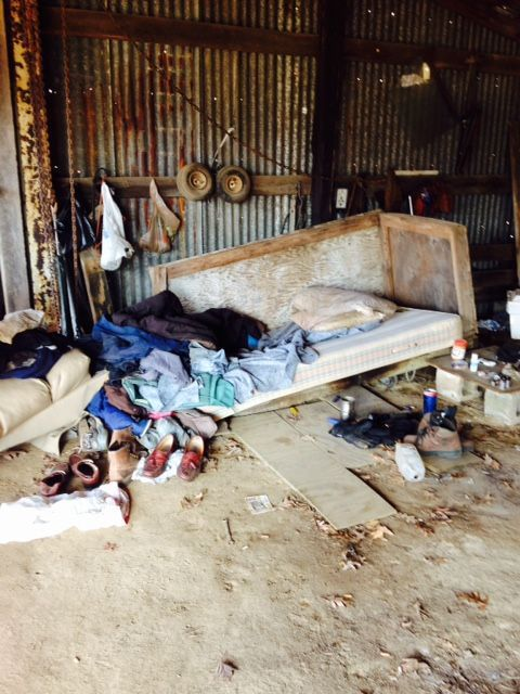 Homeless man was living in lean-to