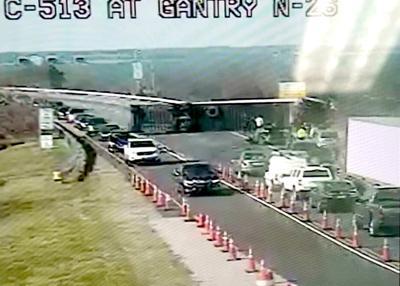 Overturned vehicle causes Bay Bridge lane closure
