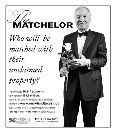 """Franchot to match Marylanders with lost money in """"The Matchelor"""""""