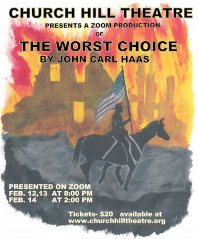 Church Hill Theatre to livestream 'The Worst Choice' in February