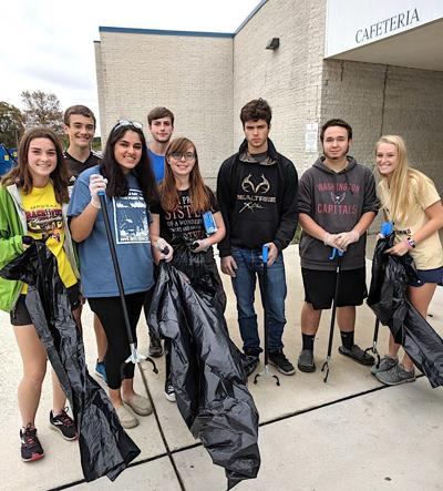 Interact Club cleans up