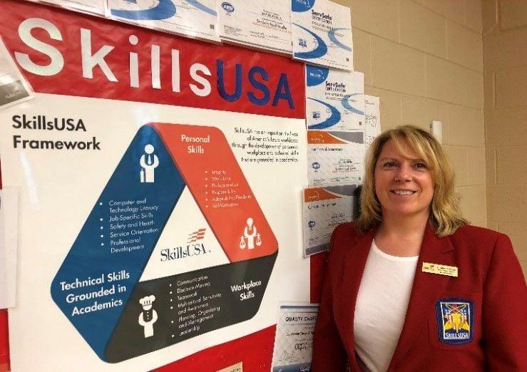 Chef Charlene Zinnel Named SkillsUSA Region 1 Advisor of the Year